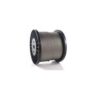 Poteaux tubes lisses cables